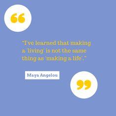 Maya Angelou Quote - #MichaelRecruits