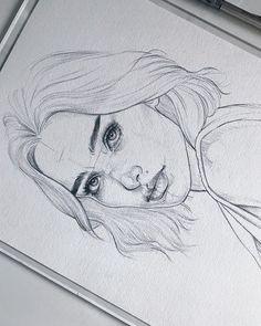 Amykour: Esquisse sur Fabri Amykour : Sketch on Fabriano Artistico cotton Pencil Pentel Graphgear Amykour: Croquis sur Fabriano Artistico coton Pencil Pentel Graphgear 1000 ______________________________________________ Merci au crayon dessin au crayon Pencil Art Drawings, Art Drawings Sketches, Cool Drawings, Drawing Faces, Girl Pencil Drawing, Pencil Sketches Of Faces, Drawing Girls, Pencil Drawing Tutorials, Pretty Drawings