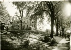 Ewing Hall from South Court Street. Ewing was the main university building for many years. It sat on the College Green between McGuffey and Scripps