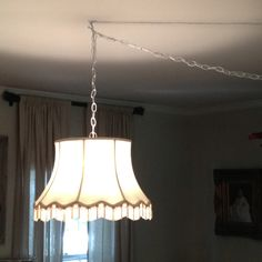 Chandelier made from old lamp shade