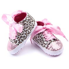 Choice of Leopard Print Girls Baby Shoes
