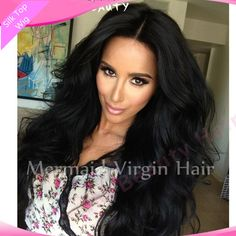 2016 New Top Quality Indian Silk Top Full Lace Wigs 100% Unprocessed Virgin Indian Full Lace Human Hair Wigs In Stock!!!