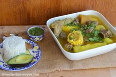 Sancocho always coincided with a celebration with friends, cousins, aunts and uncles getting together at Mamita's house. My Colombian Recipes, Colombian Food, Soup Beans, White Potatoes, White Rice, Culinary Arts, Coriander, Cilantro, Baking Recipes