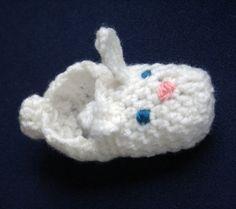 Easter Bunny Crochet Slippers
