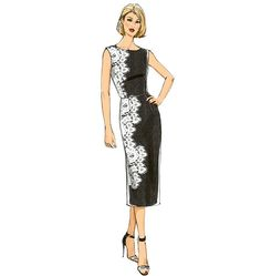 Pretty! Fitted sheath dress sewing pattern with lace overlay. Butterick B6163.