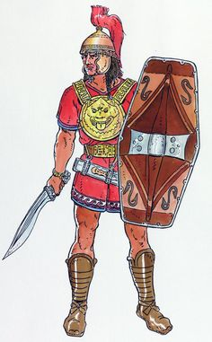 An Iberian chieftain's son with all his equipment. The chieftains and his sons would get the best equipment, as they were expected to launch themselves right into the enemy force. The bravery of the chieftain was very important to the Iberian tribes.