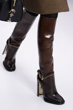 Fabulous boots—love the heels❣ Salvatore Ferragamo | Fall 2014 Ready-to-Wear Collection | Style.com