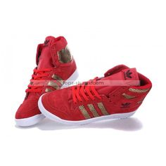 Adidas High Top Shoes for Women | Adidas Shoes High Tops Gold Snake Scale Red for Men and Women