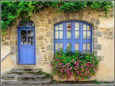 Blue door & window