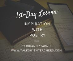 1st Day Lesson - Inspiration with Poetry - Talks with Teachers