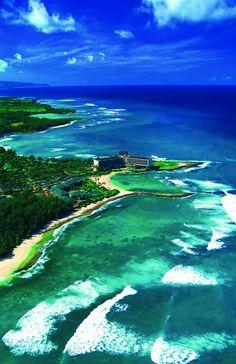 Ariel Photo of the Turtle Bay Resort & Ocean Villas, North Shore, Oahu
