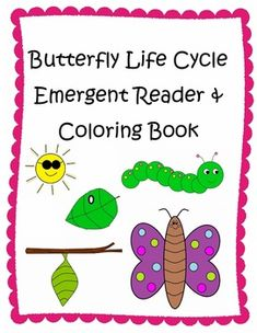 """This is a cute and colorful class emergent reader about the life cycle of a butterfly.  Also a great activity to go with """"The Very Hungry Caterpillar.""""   **Includes black & white printable book for students to color, cut and staple together.   **Also includes picture cards for students to retell the story or for playing a matching game!"""