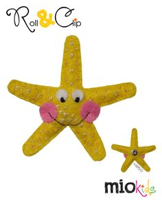 """Té-Té"" Starfish Mio Character to use with Roll & CLip bands."