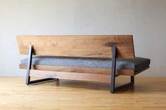 Steel Furniture, Home Decor Furniture, Sofa Furniture, Furniture Design, Rustic Sofa, Rustic Home Design, Modern Couch, Sofa Frame, Wood Sofa
