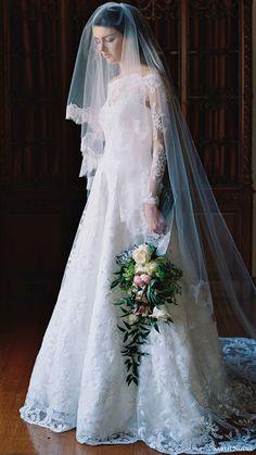 SAREH NOURI bridal spring 2017 illusion off shoulder long sleeves aline wedding dress (lily of the valley) mv train  #bridal #wedding #weddingdress #weddinggown #bridalgown #dreamgown #dreamdress #engaged #inspiration #bridalinspiration #weddinginspiration #weddingdresses