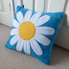 bright, whimsical pillow!