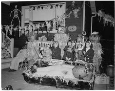 Lieberman children 6201 N. Maplewood Chicago Hallowe'en, 1961 by fluffy chetworth, via Flickr
