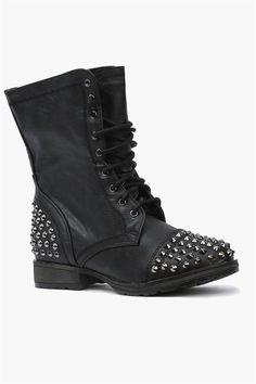 Wild Diva Black Jetta Combat Boot   Combat boot