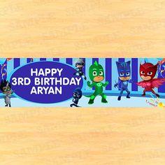 PJ masks banner pj masks party pj masks birthday by PartyInstant