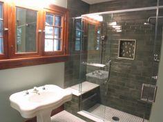doccia in muratura : doccia in muratura con seduta More