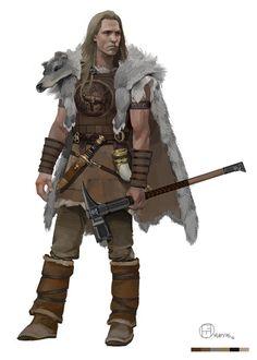 Guerreiro da tribo das montanhas