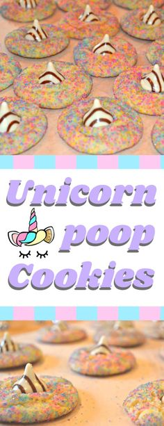 Unicorn Poop Cookies (Hugs Sugar Blossom Cookies) These colourful rainbow sugar blossom cookies, or as my children wish to name them unicorn poop cookies, would be the good addition to any unicorn celebration! Kid Desserts, Best Dessert Recipes, Best Sugar Cookies, Cupcake Cookies, Unicorn Party, Unicorn Birthday, Rainbow Birthday, Rainbow Unicorn, 4th Birthday