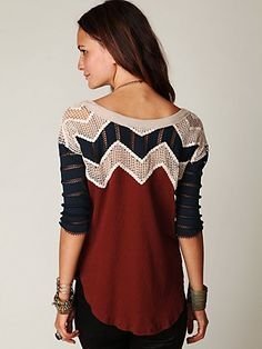 Warrior Chief Crochet Back Top- Chevron love