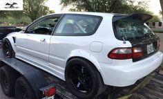 The front fenders Honda Civic Vtec, Honda Civic Hatchback, Honda Crx, Tuner Cars, Jdm Cars, Ek Hatch, Civic Eg, Dream Cars, Slammed