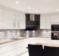 kitchen lighting desin ideas - Cool white lights are a great choice for a brighter looking kitchen.