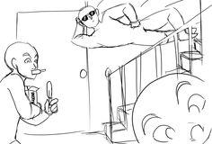 Tonny comendo, Cristofer na escada e Marta no canto. 1° vez na casa de Giovana