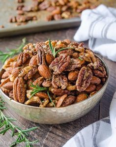Spicy Maple Rosemary Nuts – Honest Cooking
