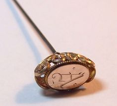 Ornate Victorian 10K Gold Top Hat Pin