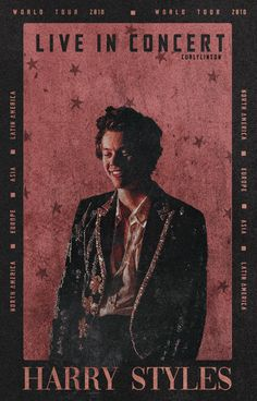 Vintage Aesthetic Discover harry styles poster tour harry styles poster tour 2018 live in concert edit collage Harry Styles Fotos, Harry Styles Mode, Harry Styles Poster, Harry Styles Imagines, Harry Styles Pictures, Harry Edward Styles, Harry Styles Concert, Harry Styles Edits, Foto Poster