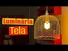DIY - Luminária de TELA e ARAME - YouTube