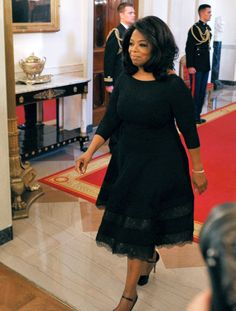 Oprah Winfrey, receiving the medal of Freedom at the White House. #bowdown