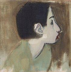 Helene Schjerfbeck - Flickprofil i Grön Klänning ca Helene Schjerfbeck, Video Chat, Female Painters, Portrait Art, Kandinsky, Figure Painting, Manet, Female Art, Klimt