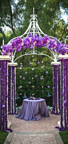 Purple Wedding ● Ceremony Decorations