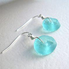 Aqua Blue Recycled Glass Jewelry Eco Friendly by cindylouwho2, $16.00