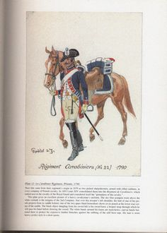 Royal Army: Plate 12: 1st Carabinier Regiment, Private, 1790.