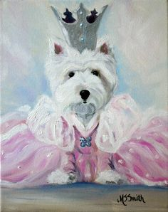 PRINT Westie West Highland Terrier Dog Art by HangingtheMoonShelby, $29.95