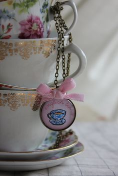 English Tea Pendant. $16.50, via Etsy.