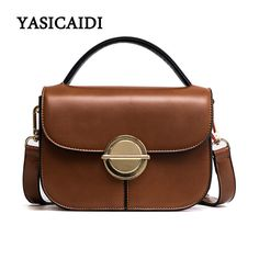 150b1af0b722 High Quality PU Leather Women Tote Bags Fashion Solid Women Crossbody Bags  Small Flap Metal Lock