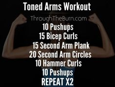 Great workout for getting toned arms