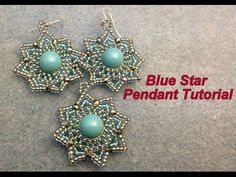 Blue Star Pendant--Intermediate tutorial - YouTube