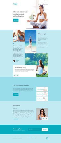 Yoga Responsive Landing Page Template #58228 #Ad #Landing #Template #Yoga #Responsive #LandingPage