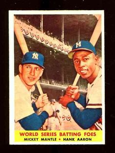 Hobbies. Google Search.  I would like to collect a Hank Aaron baseball card and a Mickey Mantle card.