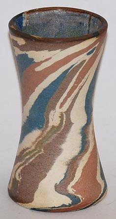 Ozark Pottery Mission Swirl Hour Glass Shape Vase by Charles Stehm from Just Art Pottery