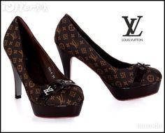 Womens sandal Louis Vuitton shoes high heels brown VL05 ---> preeetty