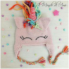 Berretto rosa baby con paraorecchie  #unicorno #unicorn #rainbow #arcobaleno #amigurumi #handmade #crochet #fattoamano #uncinetto #ganchillo #berretto #hat