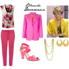 Blanche Devereaux (Rue McClanahan) from Golden Girls by jem85 on Polyvore featuring EAST, Stephen Sprouse, Fenn Wright Manson and J.Crew